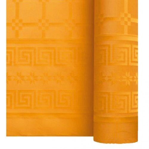 Nappe damassé 1.20 x 25 mandarine